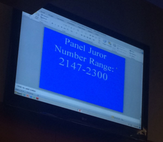 Juror Screen